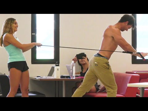 Connor Murphy WORKS OUT in the LIBRARY Prank!