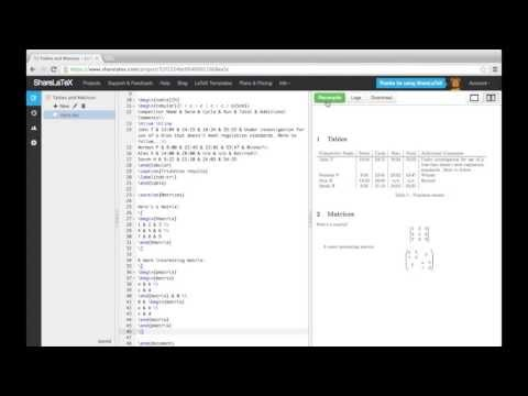 LaTeX Tutorial pt 6 - Tables and Matrices in LaTeX