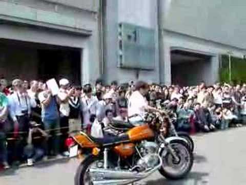 ノスタルジックサウンドミュージアム・BP東京ノスタルジックカーショー2008エンジン始動デモンストレーション バイク編
