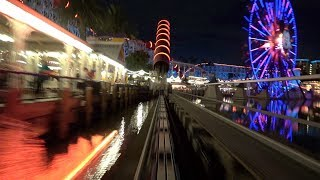 Incredicoaster (4K On-Ride Night) Disney California Adventure