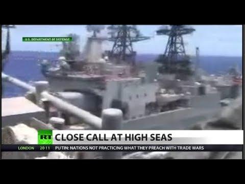 Watch Russian & US ships' near-crash