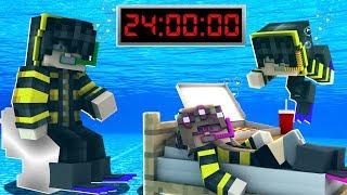 24 SAAT SUYUN ALTINDA KALDIM! 😱 Minecraft