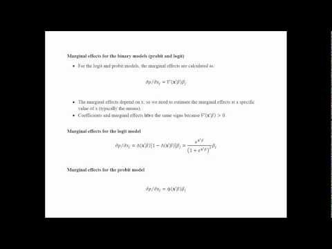 Econometrics - Probit and Logit Models