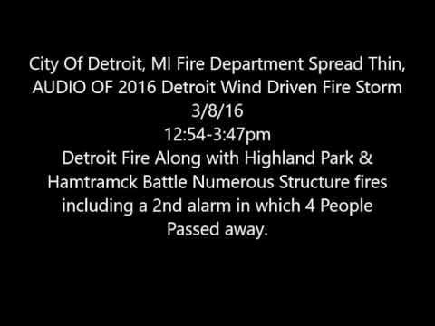Detroit Fire Storm 2017