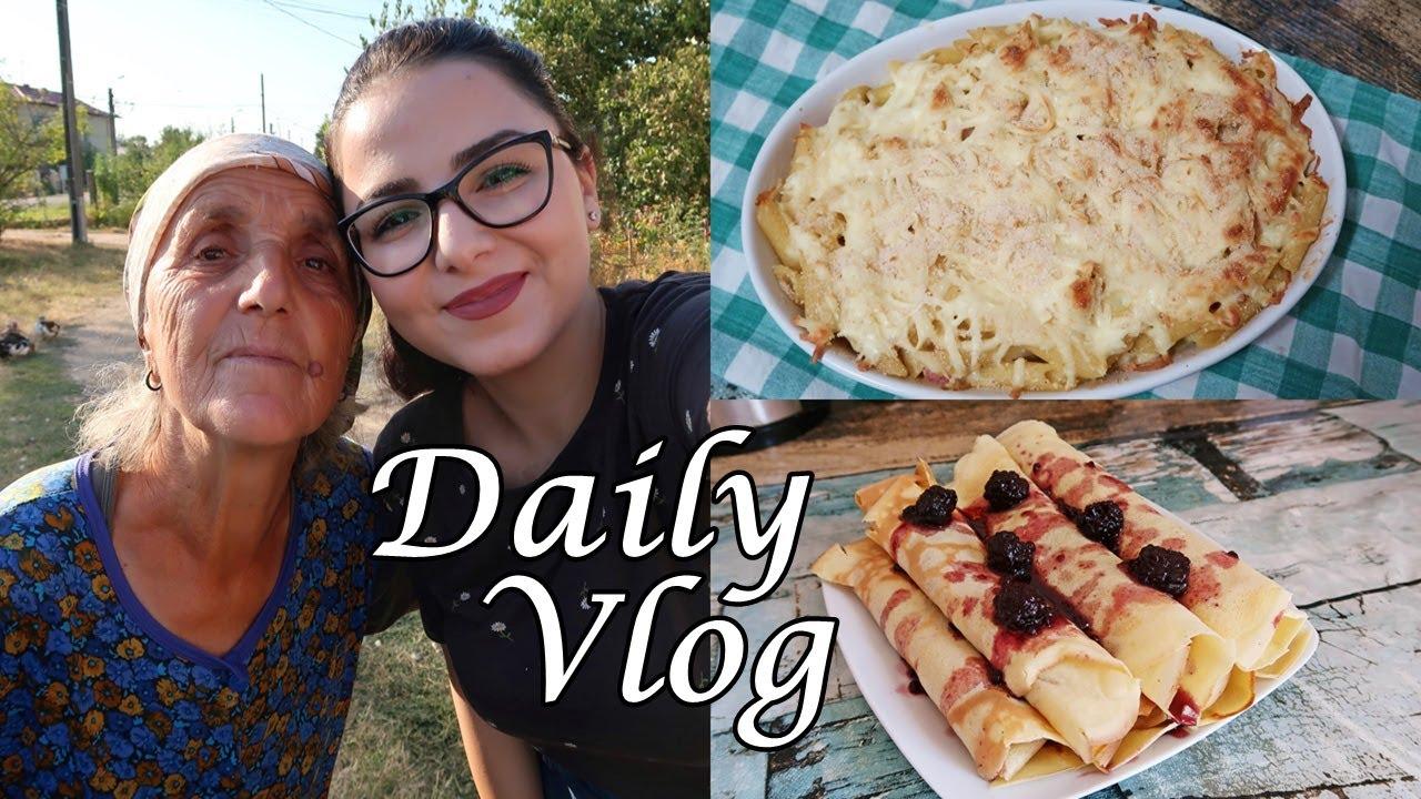 Daily Vlog | Mergem la bunica mea, gătim paste și clătite, facem curățenie