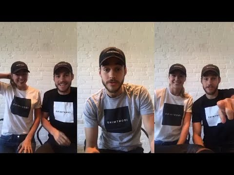 Melissa Benoist & Chris Wood  Instagram Live Stream  1 October 2017