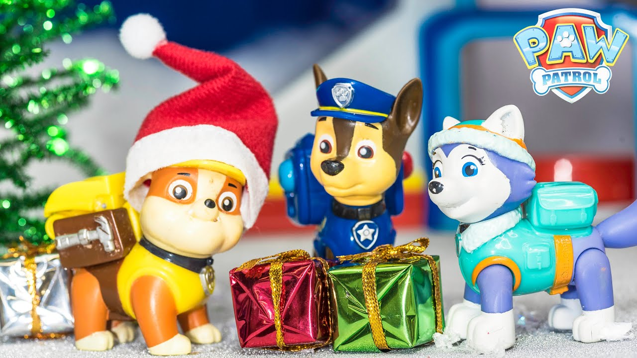 paw patrol loses the christmas presents with blaze toys video parody youtube