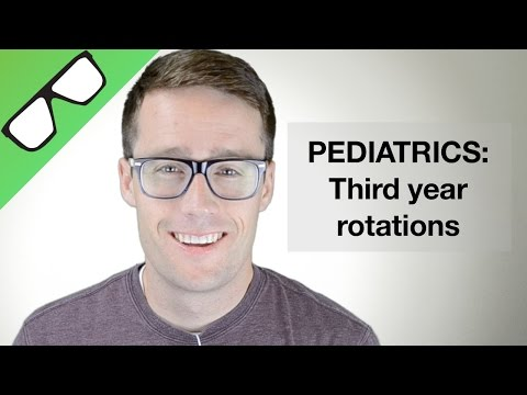 Pediatrics: Third year rotations