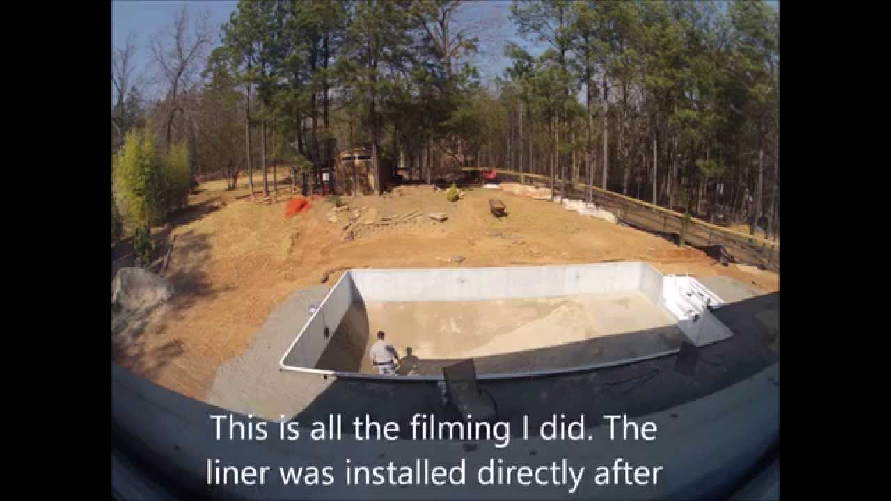 Diy inground pool install youtube solutioingenieria Images