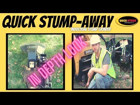 In Depth look at the Quick Attach Skid Steer Stump Grinder Attachment