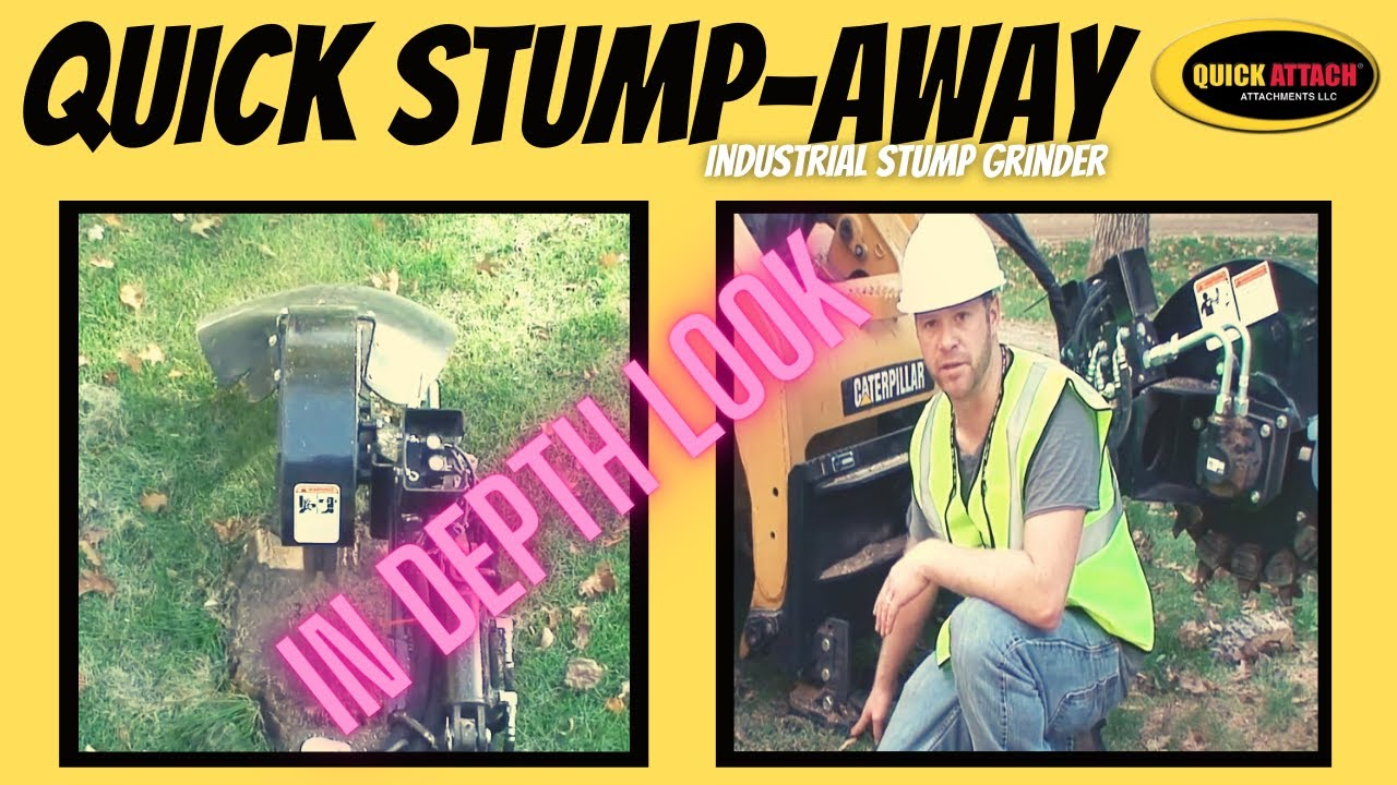 In Depth Look At The Quick Attach Skid Steer Stump Grinder