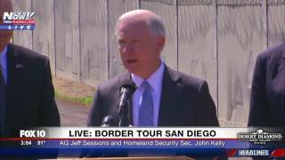 FNN: AG Jeff Sessions & Homeland Security Secretary John Kelly Speak at San Diego-Mexico Border Free HD Video