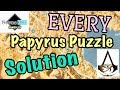 Assassin's Creed Origins - All Papyrus Puzzles Solutions / Locations