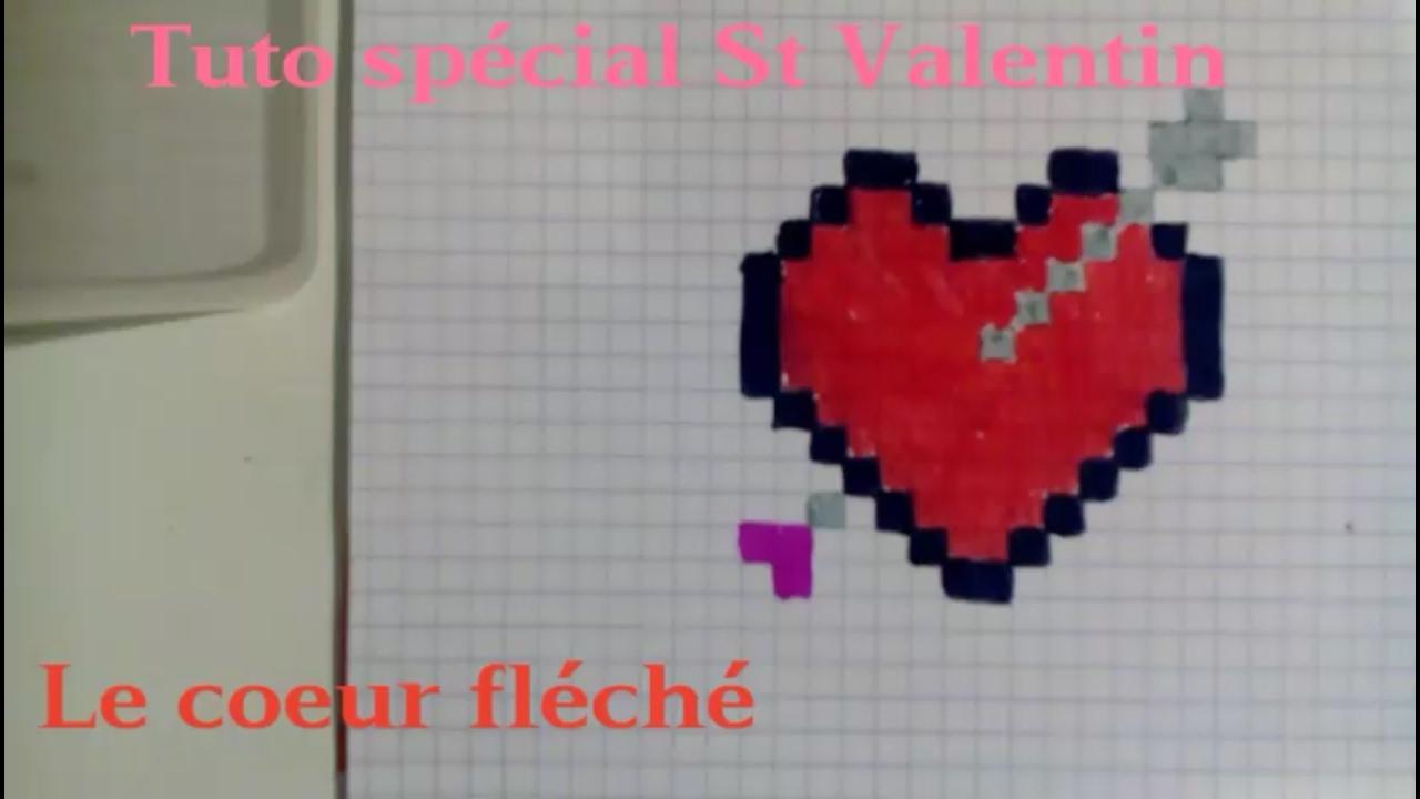 Tuto Pixel Art Spécial St Valentin Le Coeur Fléché Explications