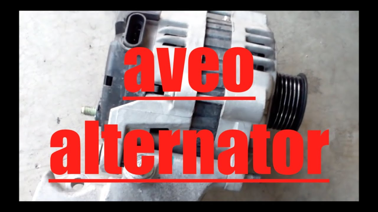 how to replace alternator generator chevy aveo  u221a