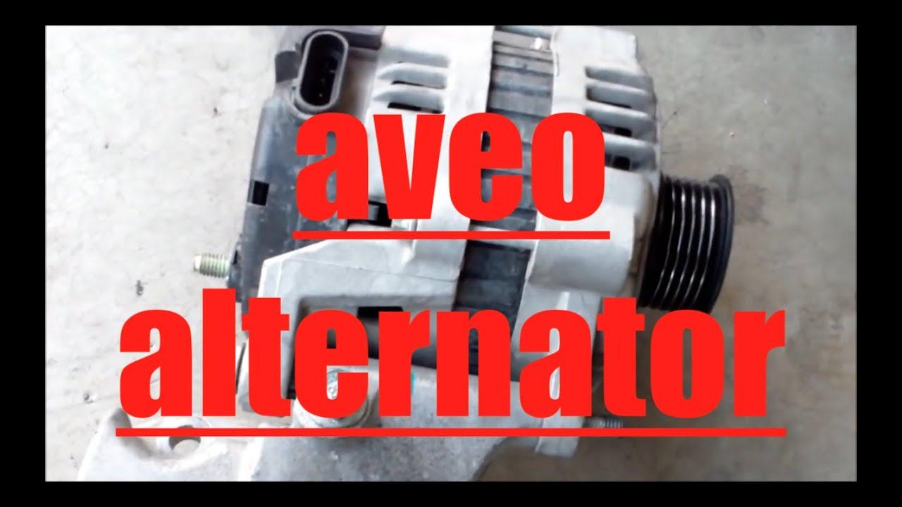 How to replace alternator generator Chevy Aveo √  YouTube