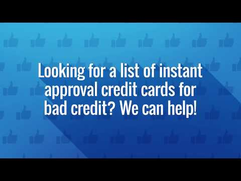 How To Use Instant Approval Credit Cards To Build Credit