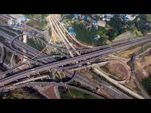 Don't get lost: the complicated highway interchange with 5 levels completed construction in SW China