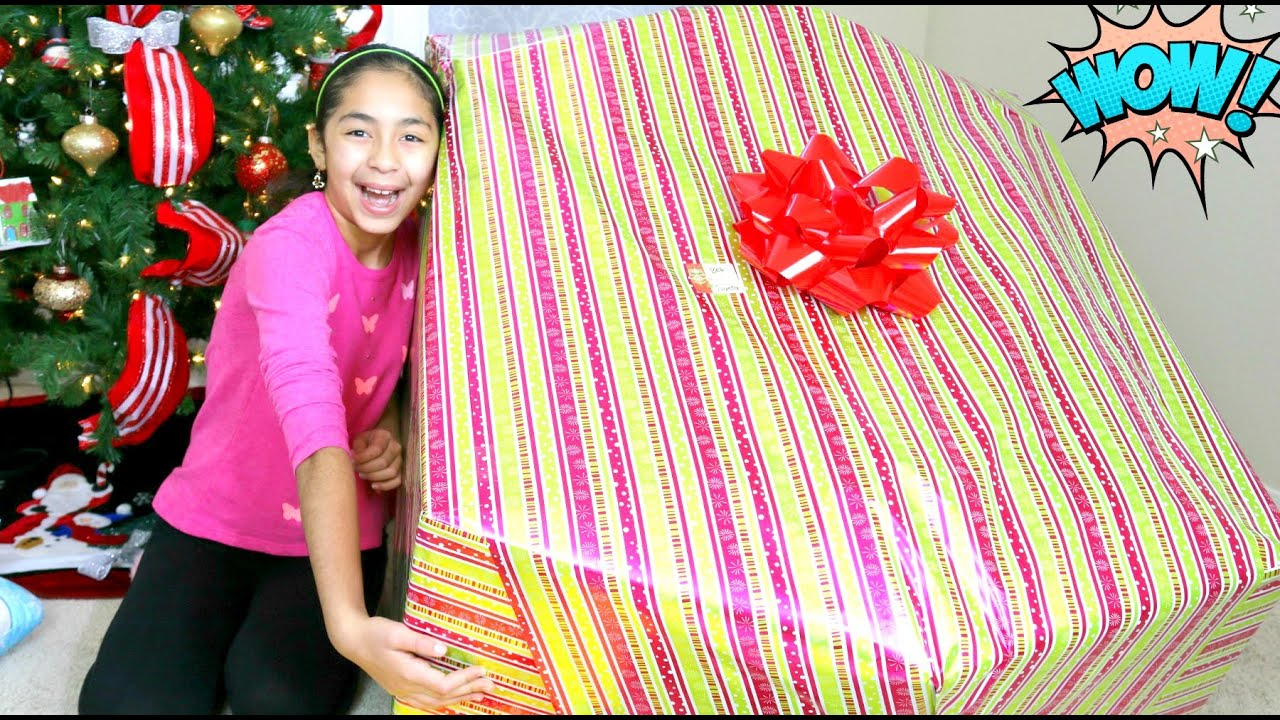 opening a giant christmas present what i got for christmas b2cutecupcakes youtube