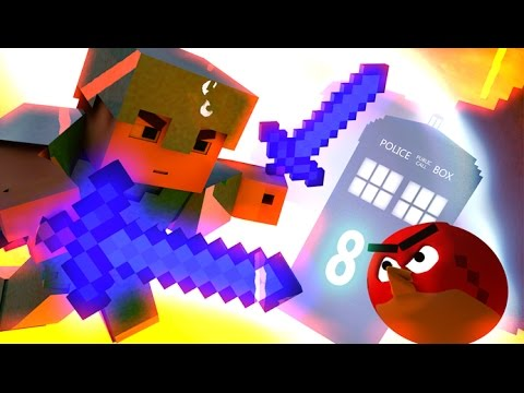 ANGRY MINECRAFT part 8 (3D Angry Birds Movie Animation)