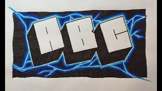Graffiti Writing Tutorial 3 - Lightning Block Letter (USING FELT TIP PENS!)
