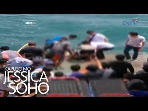Kapuso Mo, Jessica Soho: Dalaga, nahulog sa barge dahil sa selfie?