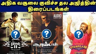 Highest Grossing Thala Ajith Movies | Top 10 Ajith Movies Box Office Collections | தமிழ்