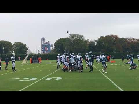 New Eagles kicker Jake Elliott at practice