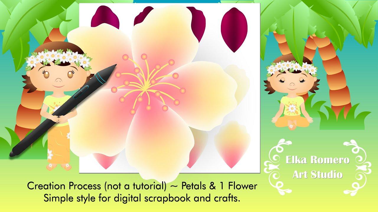 Creation Process (not a tutorial) ~ Petals & 1 Flower
