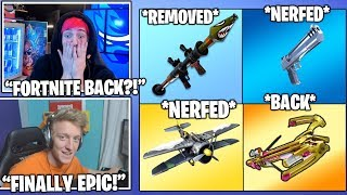 STREAMERS *EXTREMELY HAPPY* After Rocket Launcher *REMOVED* Deagle, Planes *NERFED* Fortnite Moments