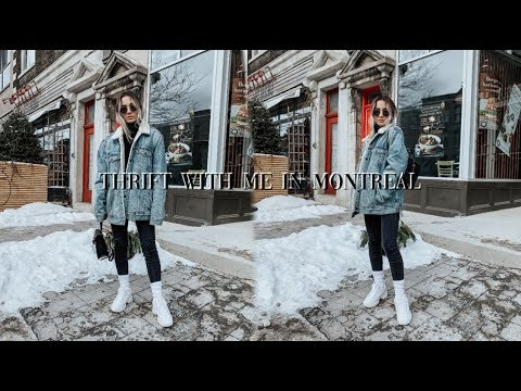 COME THRIFTING WITH ME VLOG IN MONTREAL CANADA 2019 | Empire Exchange, Eva B & L N F Shop!