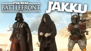 HEROES ON JAKKU - Star Wars Battlefront Gameplay - HEROES vs VILLAINS