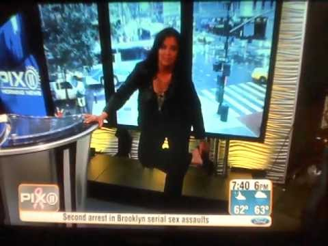 Sukanya Krishnan Falls Down on Live TV 10-19-11 Pix Morning