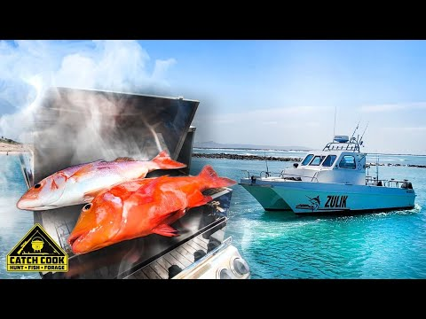Boat fishing, oak smoked Red Roman & Silverfish Struisbaai CATCH COOK