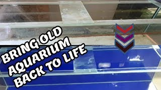 How To Clean Used Aquarium And Put On Fish Tank Background (Like Brand New Tank)