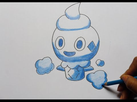 Dibujando y pintando a vanillite (pokemon) - Drawing and painting to ...