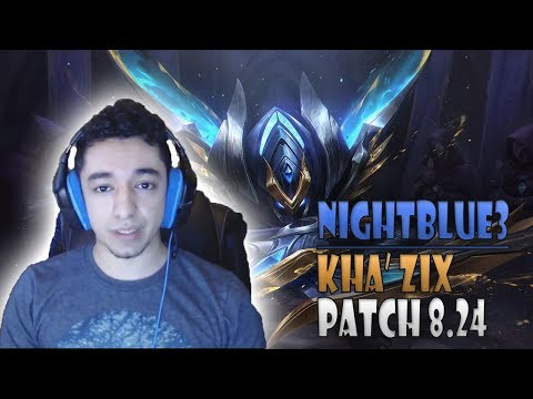 Nightblue3 HOW TO Kha'Zix Jungle vs Aatrox Patch 8 24 NA Ranked - League of Legends