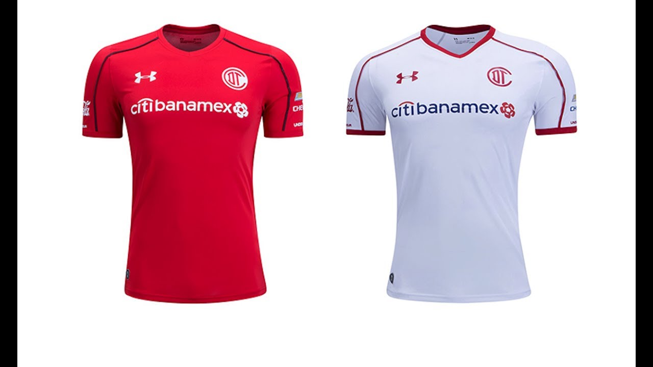 2cdc9b2d48d Under Armour Toluca 2017/18 Home and Away Jerseys - YouTube