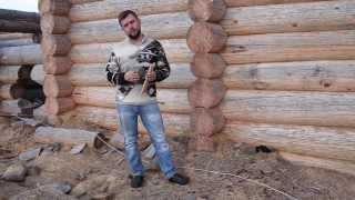 видео Соединение венцов нагелями