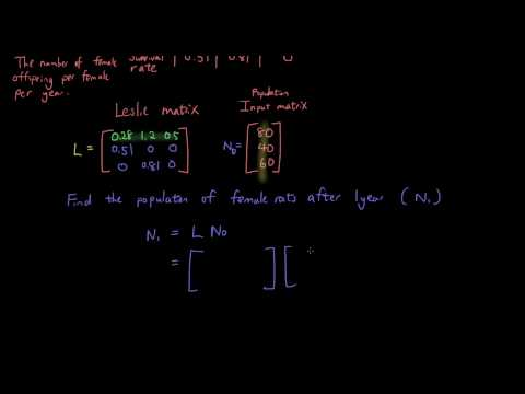 Real-life applications of Matrices - Leslie Matrix Model