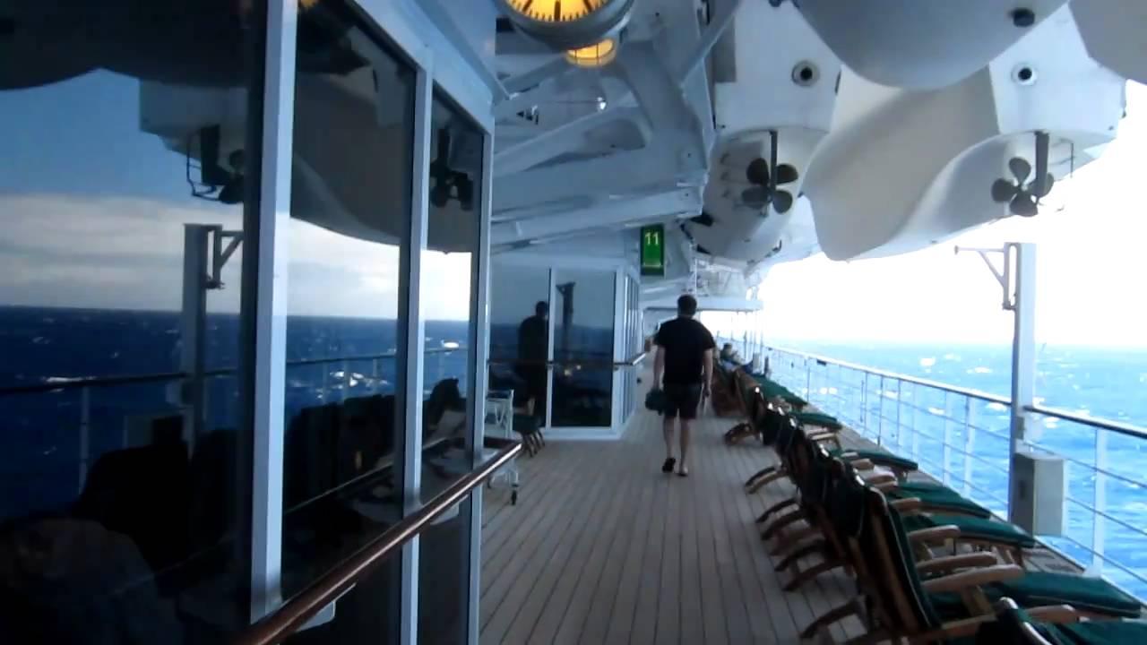 Queen Mary 2 Walk around Deck 7 - YouTube
