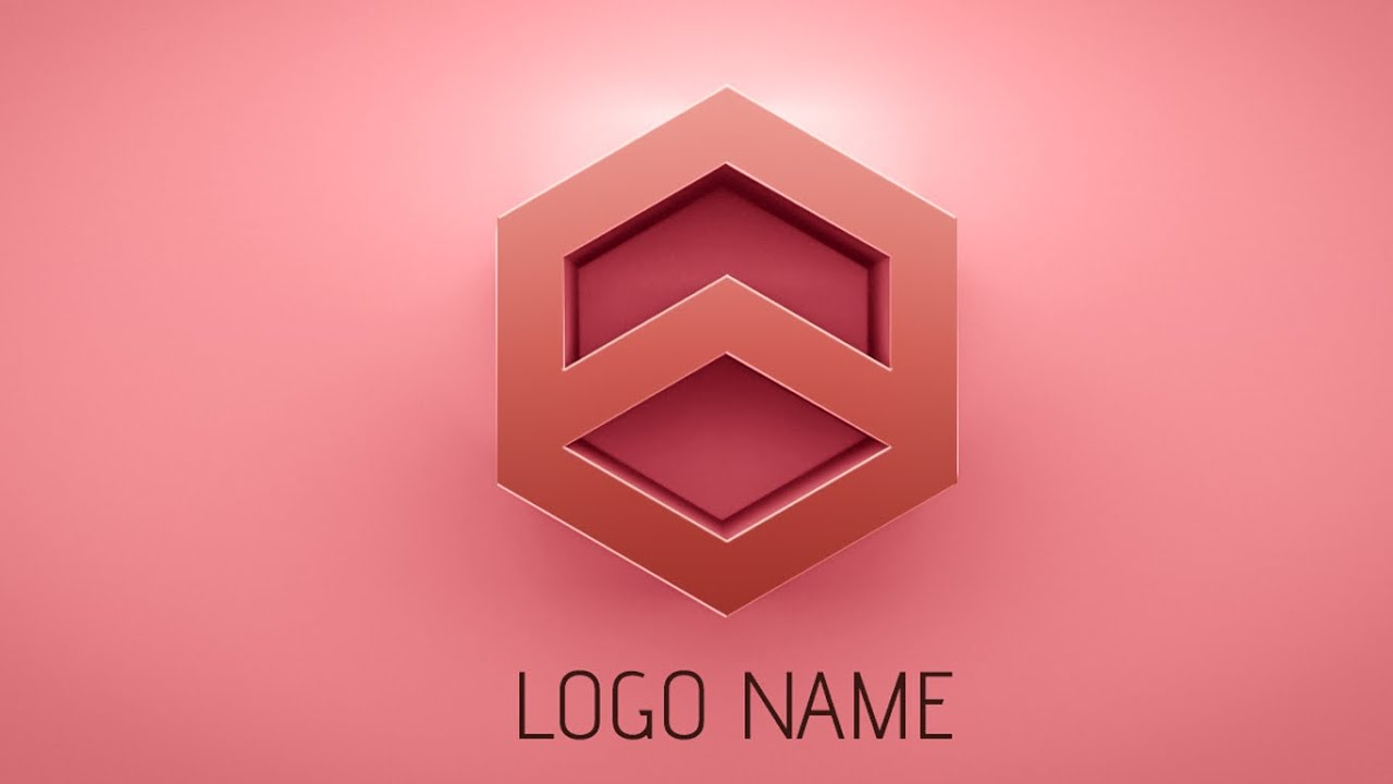 photoshop tutorial how to make 3d logo design youtube