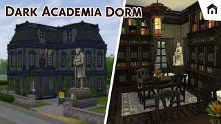 DARK ACADEMIA DORM | Die Sims 4 Speedbuild [No CC]