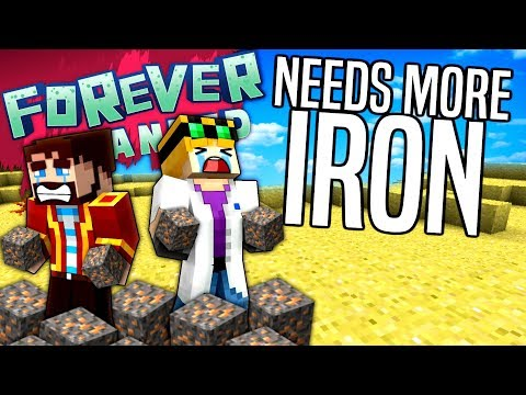 Minecraft - NEEDS MORE IRON - Forever Stranded #13