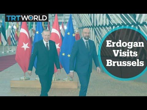 Erdogan meets presidents of the EU Commission, EU Council on refugees