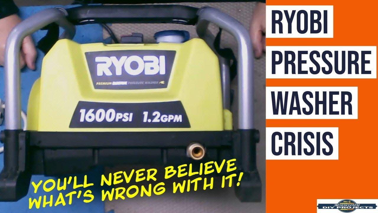 Repair a Ryobi Pressure Washer   How to fix an Electric Pressure Washer
