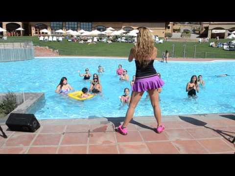 Aqua Zumba Master Class with Raquel Call - Hacienda Santa Martina 2014