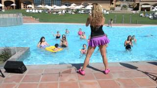 Aqua Zumba Master Class with Raquel Call - Hacienda Santa Martina 2014