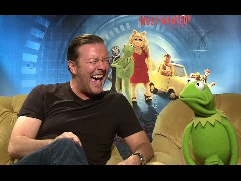 Ricky Gervais and Constantine Interview - Muppets Most Wanted (2014) JoBlo.com HD