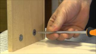 Top Tips when building Flat Pack Furniture - attaching drawer side to drawer front Thumbnail